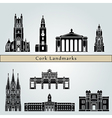 Cork landmarks and monuments vector image