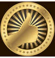 Thumbs Up Badge vector image