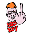 bad boy draw vector image
