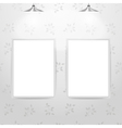 White empty frames hanging on the wall vector image vector image