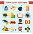 Action movie set vector image