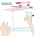 write paper vector image
