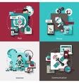 Communication Design Concept Set vector image