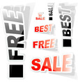 sticker set for sale vector image vector image