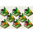 Isometric Oven Energy Efficiency Classes vector image