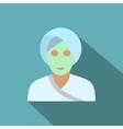 Spa facial clay mask flat icon vector image