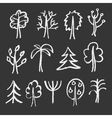 Fashion chalk sketches of trees vector image