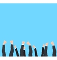 Thumbs Up and success gestures of many different vector image