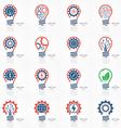 set of light bulb idea icons vector image vector image