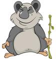 Bear panda vector image