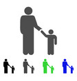 father child icon vector image