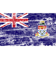 Flag of Cayman Islands with old texture vector image
