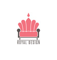 Furniture logo sofa interior design creative vector image