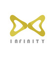 gold infinity logo vector image