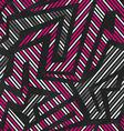 pink tribal geometric seamless pattern vector image
