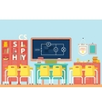 Physics classroom with electrical circuit vector image