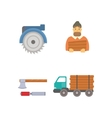 Timber icons vector image