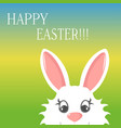 easter bunny greeting card banner happy easter vector image