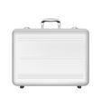 Silver briefcase vector image