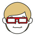 Young man with glasses 3d avatar character vector image