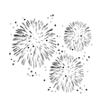 black and white fireworks vector image