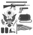American patriotic elements set Weapons armor vector image