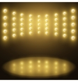 stage yellow lights Abstract sparkling background vector image
