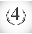 Fourth Place Laurel Design Label vector image