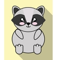 Kawaii raccoon icon Cute animal graphic vector image