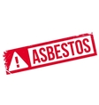 Asbestos rubber stamp vector image