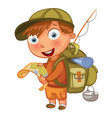 boy scouts funny cartoon character vector image