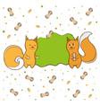label squirrel nut peanut vector image