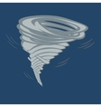 tornado on grey background vector image