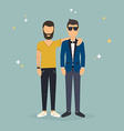 Two best friends Concept of friendship and fun vector image