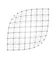 Wireframe mesh sheet vector image