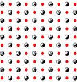 Yin-yang japan style seamless pattern black and vector image
