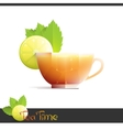Cup of lemon tea vector image