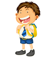 a boy going to school vector image vector image