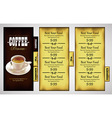 cafe menu design vector image vector image