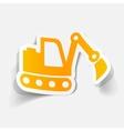 realistic design element excavator vector image