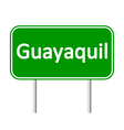 Guayaquil road sign vector image