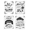 Save the date always in love true love never ends vector image