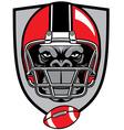 ape football mascot vector image vector image