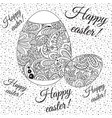 doodle zentangl drawing holiday card happy easter vector image
