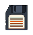white background with floppy disk vector image