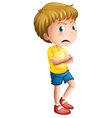 An angry young boy vector image vector image