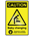 Baby Changing Hazard Sign vector image