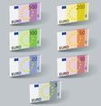 euro paper bill banknotes with shadows vector image