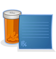 Prescription Drug Pill Bottle Cartoon vector image