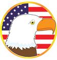 Eagle Medallion vector image vector image
